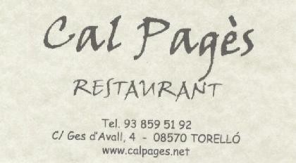Restaurant Cal Pag�s